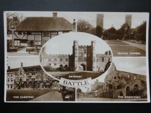 East Sussex BATTLE 5 Image Multiview Inc Watch Towers & Pilgrims Rest Inn Old RP