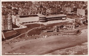 Bexhill From The Air Real Photo Sussex Aerial Postcard
