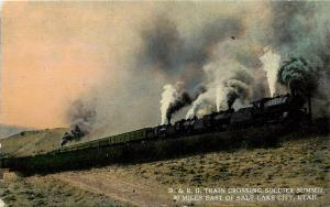 Vintage PC; D. & R. G. Train Crossing Soldier Summit East of Salt Lake City UT