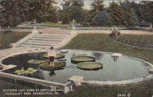 Pennsylvania Philadelphia Victoria Lilt Pond At Horticultural Hall Fairmount ...