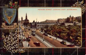 Princes Street Looking East, Edinburgh, Scotland, Early Postcard, Unused