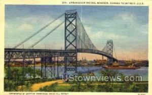 Ambassador Bridge Detroit MI Unused