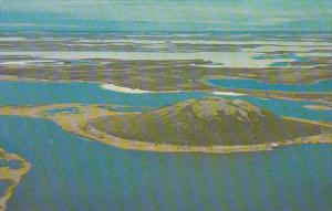 Canada Aerial View Of A Pingo  Northwest Territories