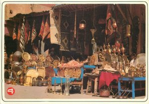 Typical Morocco Postcard folklore street market