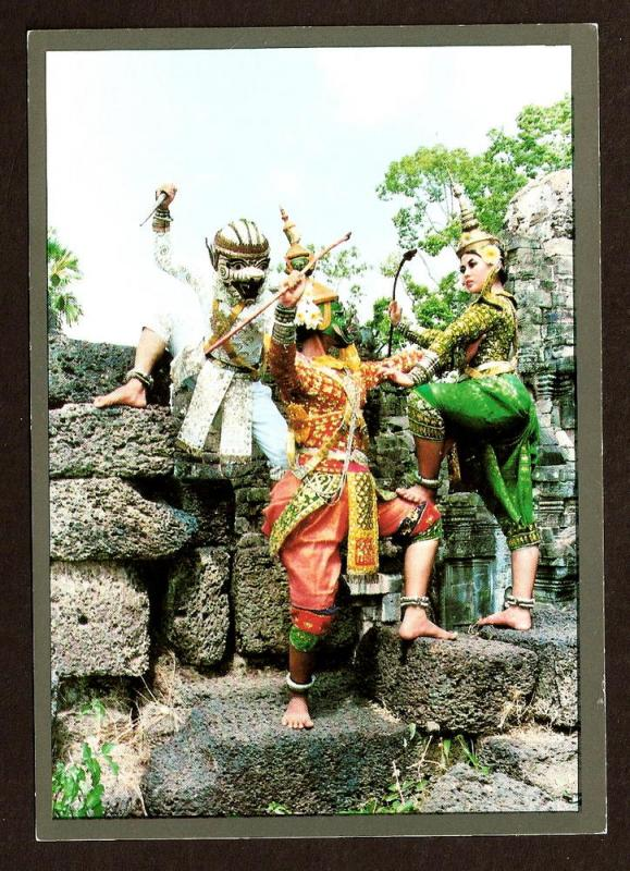 INDONESIA POSTCARD-A SCENE FROM THE  RAMAYANA BALLET