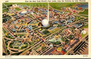 New York World's Fair 1939 Overall View From Painting By John Wenrich Cu...