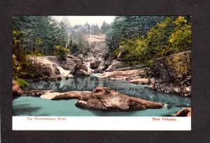 NH Ammonoosuc River Fabyans White Mountains Mtns New Hampshire UDB Postcard