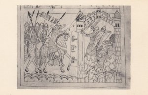 Manuscript , Babylonians attack Jerusalem , 1910s
