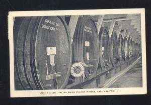 ASTI CALIFORNIA ITALIAN SWISS COLONY WINERY WINE VAULTS