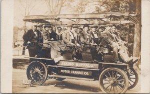 Seeing Buffalo NY Motor Transit Company Real Photo Postcard E64