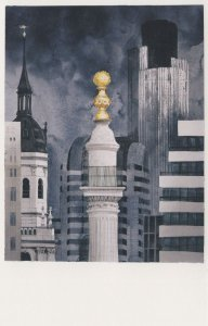 St Magnus The Martyr Monument London Painting Postcard