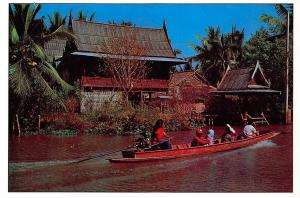 Thailand Beautiful view of Klong Canal in Bangkok