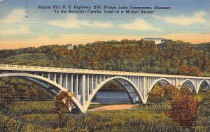 Lake Taneycomo Missouri~Baptist Hill~US Highway 65 Concrete Arch Bridge~1948 PC