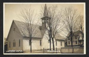 Lutheran Church Hooversville PA RPPC unused c1910s