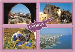 B108870 Cyprus Greetings Folklore Panorama Market Place General view