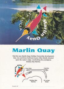 BI-FOLD PC; ST. LUCIA , West Indies , 40-60s; ADV: Marlin Quay