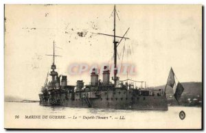 Postcard Old Navy warship War The Dupetit Thouars