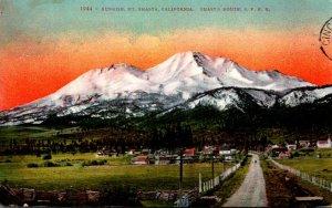 California Mount Shasta At Sunrise 1909