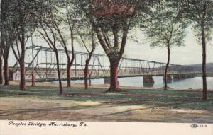Pennsylvania Harrisburg The Peoples Bridge 1908