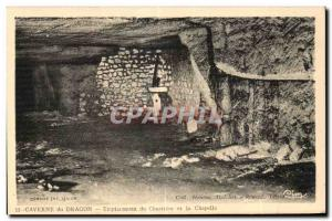 Old Postcard Dragon's Cave location Cemetery and Chapel Army