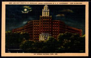 Army and Navy Hospital by Moonlight,Hot Springs National Park,AR