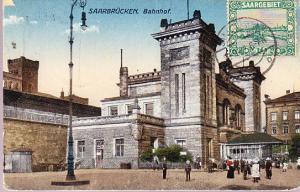 Saarbrucken Bahnhof  1922 - Germany