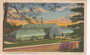 Ohio Cincinnati Eden Park Conservatory 1939 Curteich