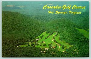 Hot Springs Virginia~Cascades Golf Course From the Air~Homestead Hotel~1960s