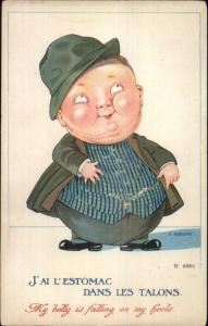 Caricature - Jolly Little Fat Man My Belly Is Falling On My Heels S. Gibson PC