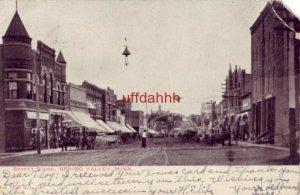 PRE-1907 STREET SCENE SPRING VALLEY, MN business district 1906