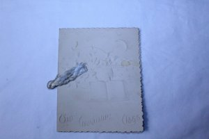 Vintage 1896 High School Commencement Program Holly, MI Embossed Logo On Cover
