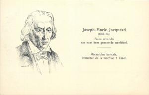 French weaver and merchant Joseph Marie Jacquard