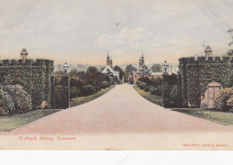 Welbeck Abbey, England, PU-1915 ; Entrance