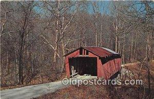 Covered Bridge Vintage Postcard Rolling Stone Bridge Bainbridge, IN, USA unused
