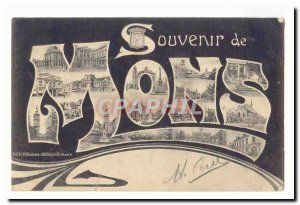 Mons Old Postcard Remembrance