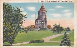 Ohio Cleveland James A Garfield Memorial Curteich