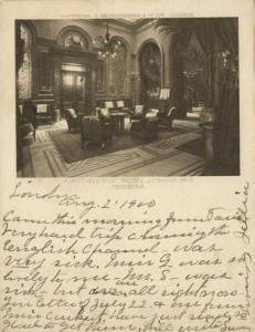 london, First Avenue Hotel, Vestibule (1900) Court Card
