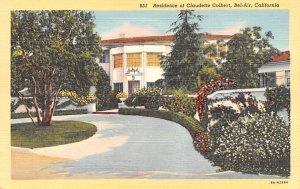 Residence of Claudette Colbert Bel Air, California USA Unused