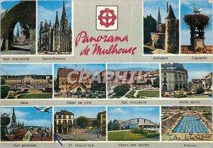 Modern Postcard Panorama of Mulhouse