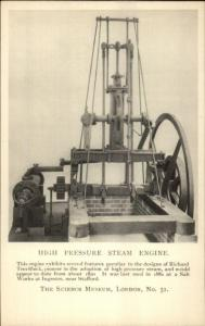 London Science Museum Machinery High Pressure Steam Engine c1920 Postcard