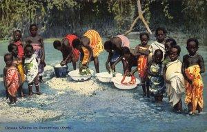 Ghana Gold Coast Kyebi grand wash natives Postcard