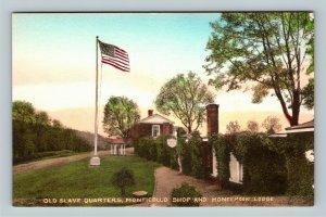 Charlottesville VA, Old Slave Quarters Albertype Vintage Virginia c1910 Postcard