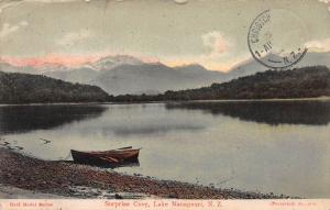 Suprise Cove, Lake Manapouri, New Zealand, Early Postcard, Used in 1910