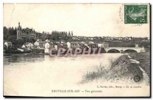 Old Postcard Neuville on Ain general view