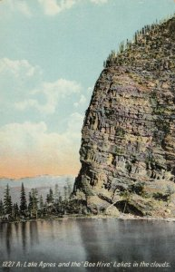ALBERTA , Canada , 1900-10s ; Lake Agnes and the Bee Hive, Lakes in the clouds