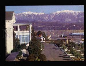 042971 RUSSIA CAUCASUS Sochi - Airport Old colorful photo PC