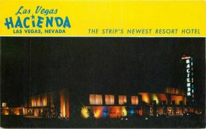 Desert Supply 1950s Night Neon Las Vegas Hotel Nevada Postcard Roberts 7532