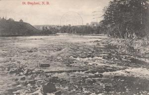 St Croix River near St Stephen NB, New Brunswick, Canada - pm 1907 - DB