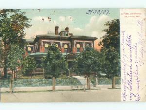 Pre-1907 LORETTO ACADEMY St. Louis Missouri MO n6586