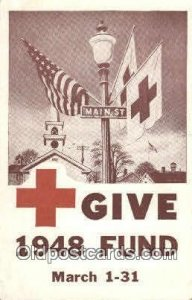 1948 Fund Campaine Red Cross Unused light corner wear close to grade 1